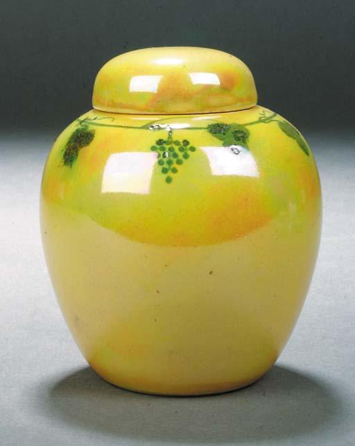 a small Ruskin lustre ginger j
