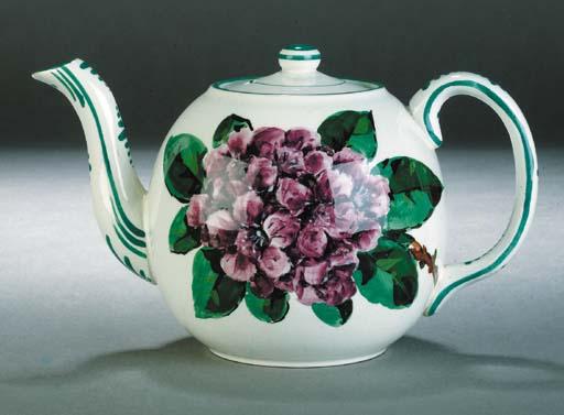 A Wemyss foliate teapot