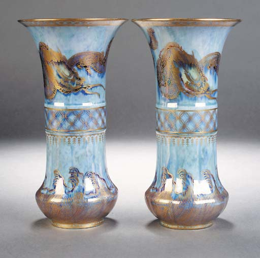A pair of Wedgwood dragon lust