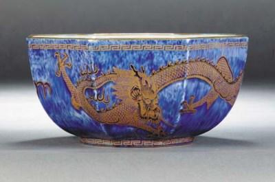 A Wedgwood dragon lustre octag