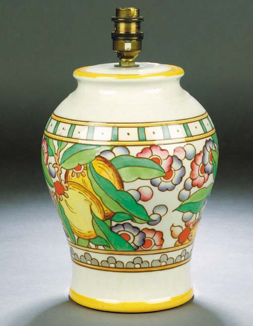 A Bursley Ware ginger jar and