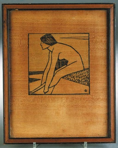 A Rowley Art Deco wooden frame