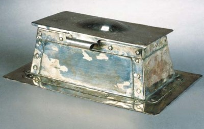 An Arts and Crafts silvered co