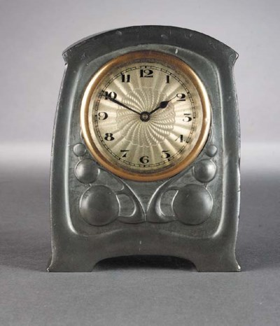A Tudric Pewter clock