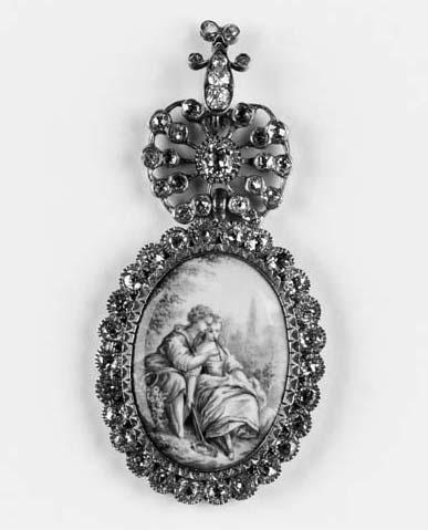 An antique diamond and transfe