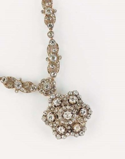 A Victorian diamond necklace,
