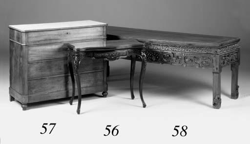 A French mahogany commode, lat