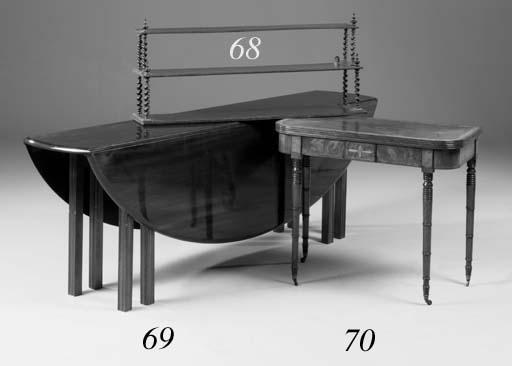 A mahogany wake table, late 20