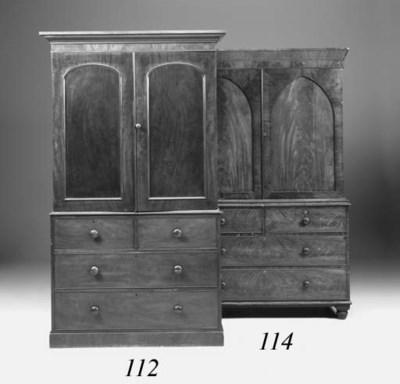 A Victorian mahogany linen pre