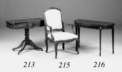 A late George III mahogany and