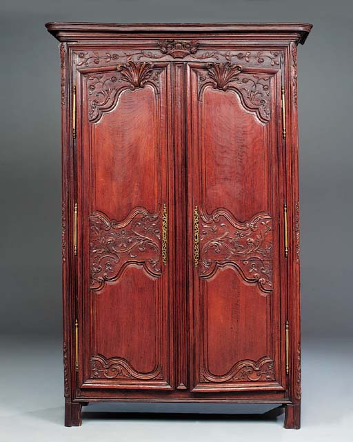 A French oak armoire, late 18t