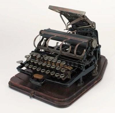 A Fitch typewriter,