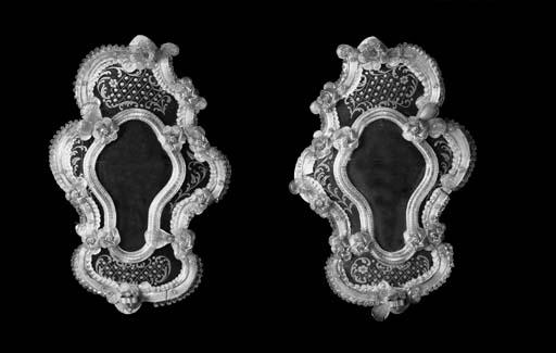 A pair of Venetian glass wall