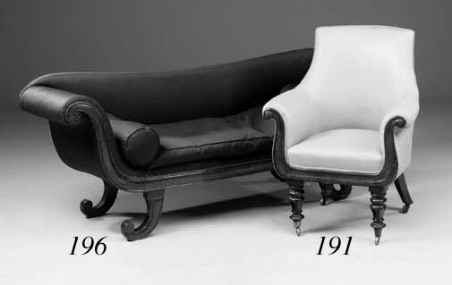 A Victorian mahogany sofa