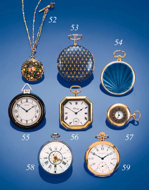 A silver verge pocket watch wi