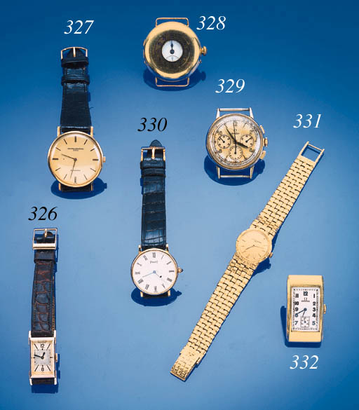 Omega, an 18ct gold wristwatch