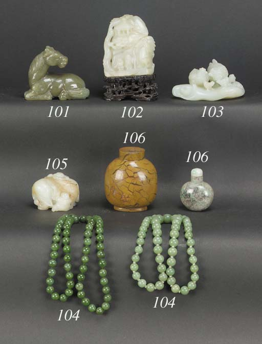 A Chinese pale celadon jade ch