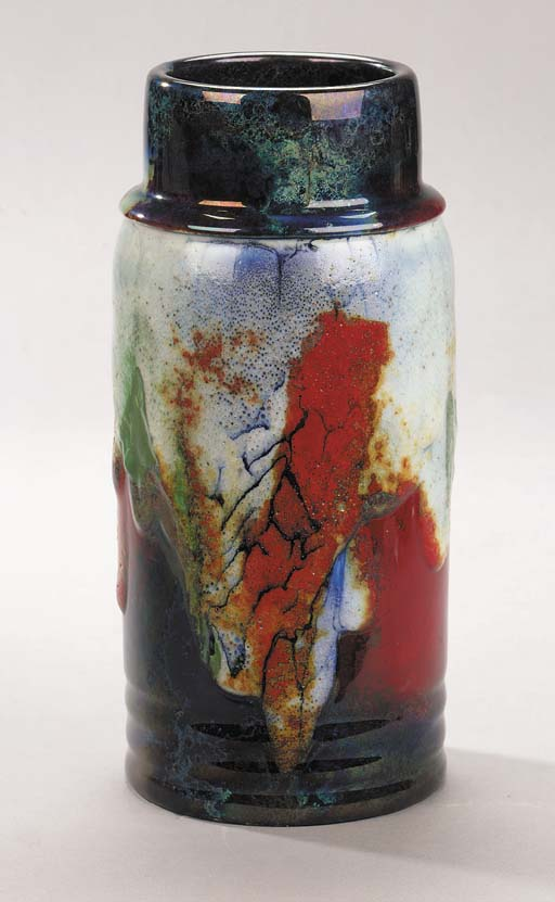 A Chang Flambe vase