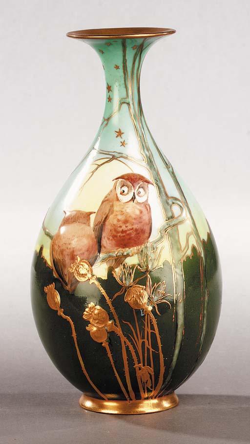 A Burslem porcelain vase