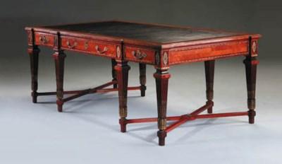 A French mahogany, kingwood cr