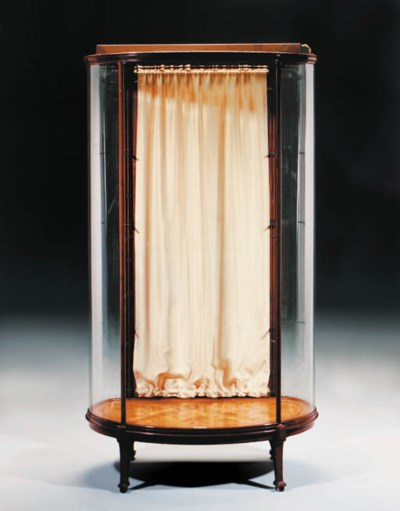 A mahogany display cabinet by