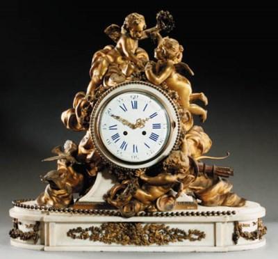 A Napoleon III ormolu and whit