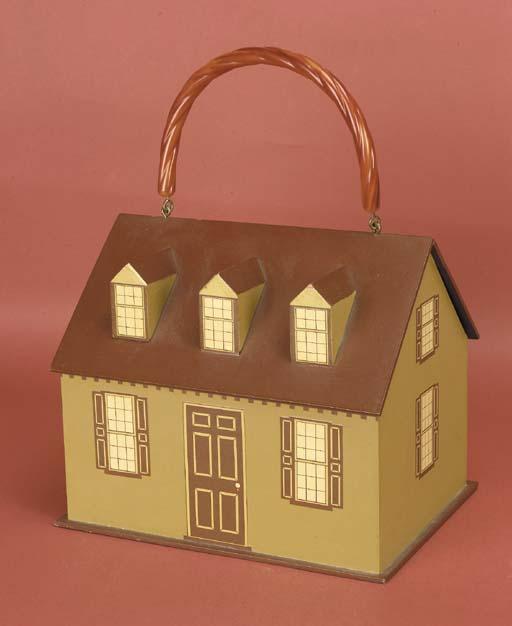 A novelty handbag, of wood wit