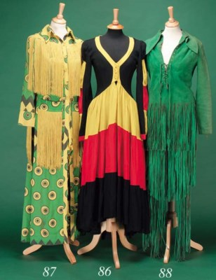 A canary yellow, green and bla