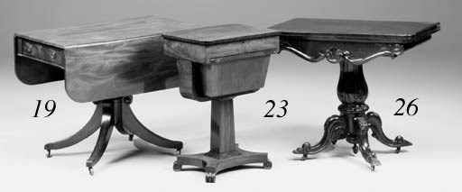 A late Regency mahogany pedest