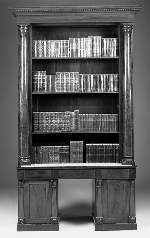 A mahogany open bookcase, part