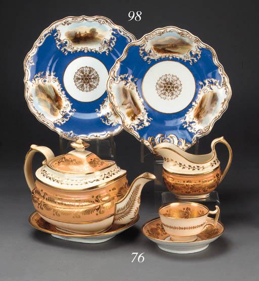 An English porcelain salmon-pi