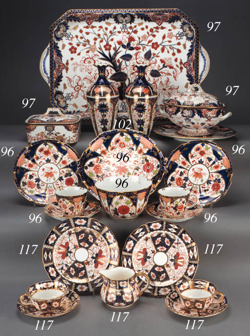 A Royal Crown Derby 'Imari' pa