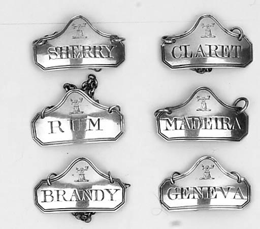 CLARET, SHERRY, BRANDY, RUM, G