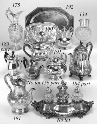 A four piece Victorian tea and
