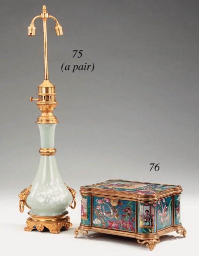 A French gilt metal mounted po