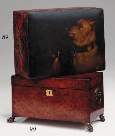 A Scottish Mauchlineware box,