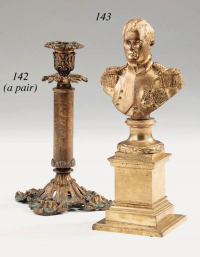 A French gilt bronze bust of N