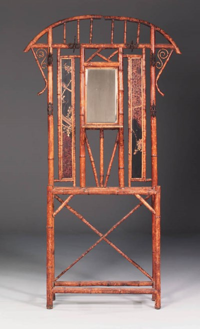 An Edwardian bamboo hall stand