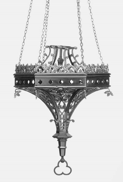 An English brass Gothic style