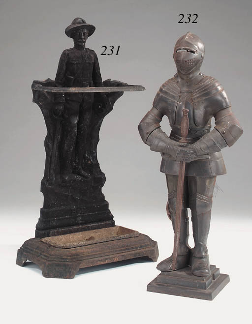 An English cast iron stick sta