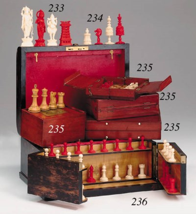 A Javanese ivory figural chess