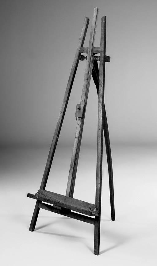 An English mahogany A-frame ga