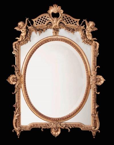A Victorian gilt composition w