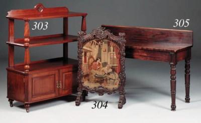 A mahogany side table, early 1