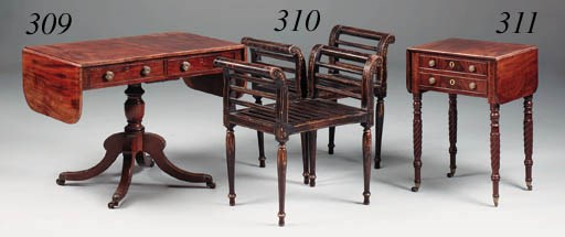 A mahogany Pembroke work table