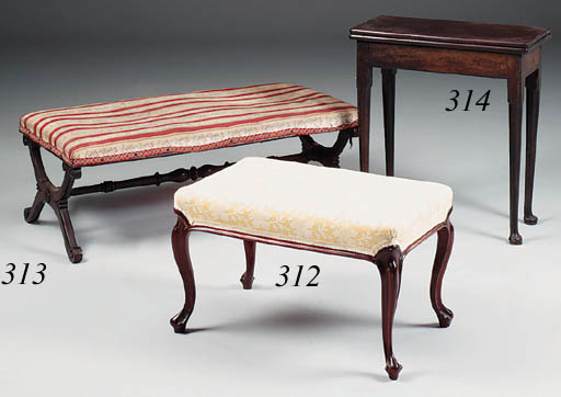 An early Victorian rosewood X-