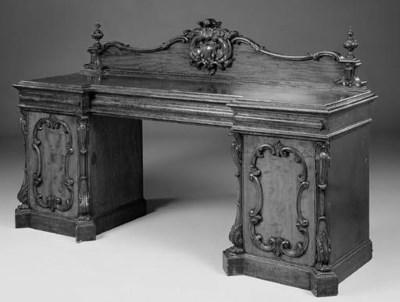 An early Victorian mahogany pe