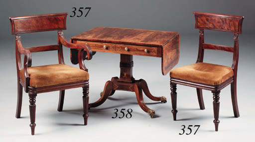 A late Regency rosewood and in