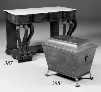 A Regency mahogany wine cooler
