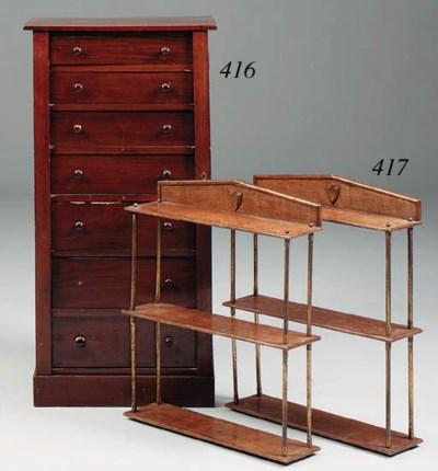 A mahogany Wellington chest, e